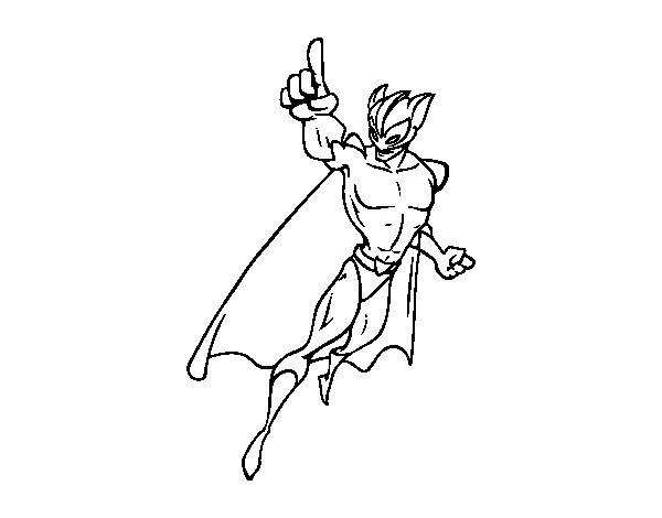 Desenho de Super-Vilão para Colorir