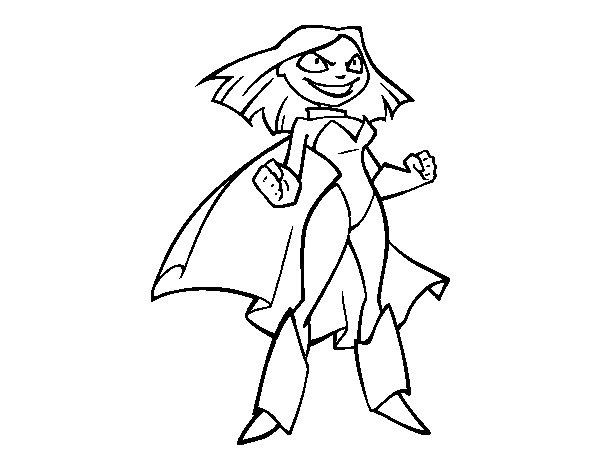 Desenho de Supermenina para Colorir