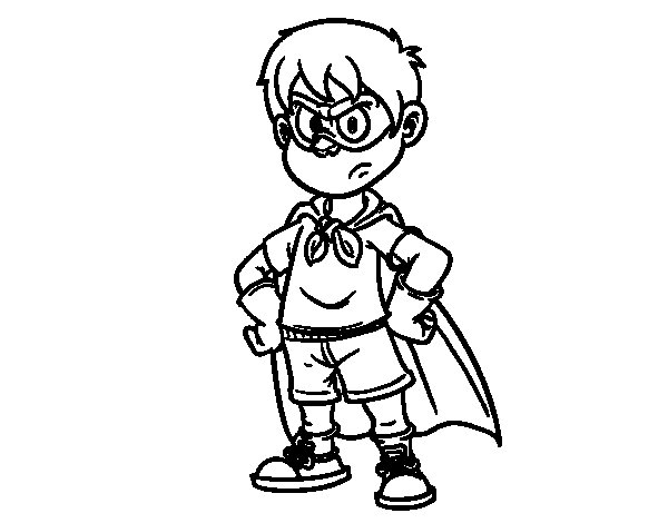 Desenho de Supermenino para Colorir
