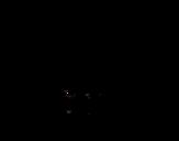 Desenho de Tamanduá peludo para colorear