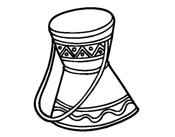 Desenho de Tambor africano para Colorir