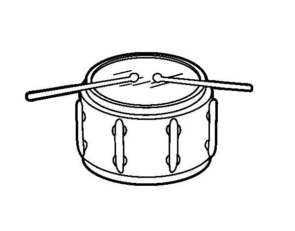 Desenho de Tarol para Colorir