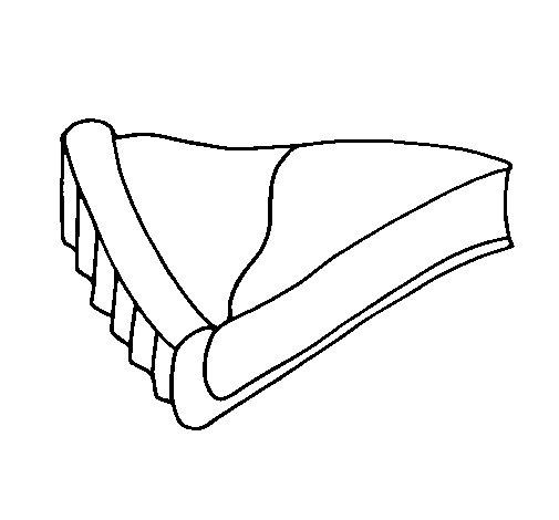 Desenho de Tarte de queijo para Colorir