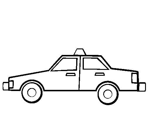 Desenho de Taxi para Colorir