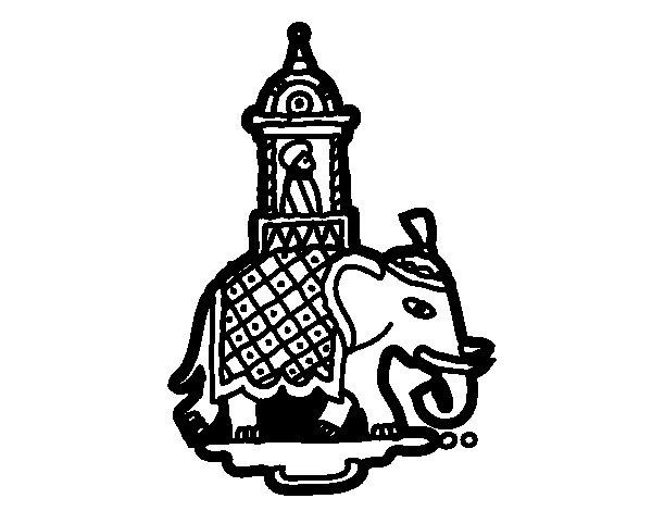 Desenho de Taxi-elefante para Colorir