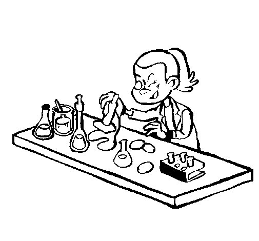 Desenho de Técnico de laboratório para Colorir