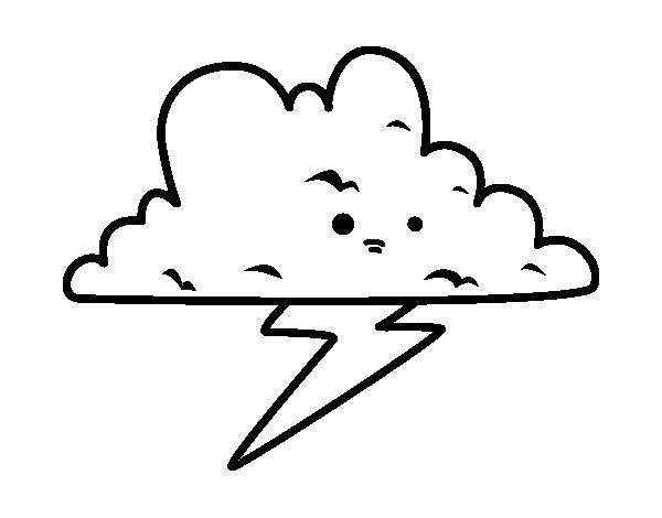 Desenho de Tempestade para Colorir