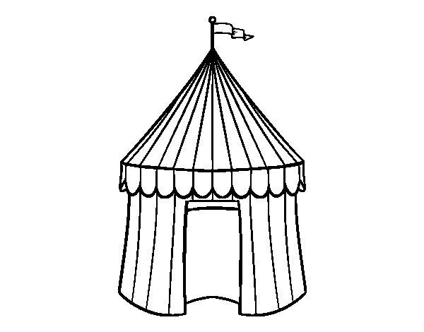Desenho de Tenda de circo para Colorir