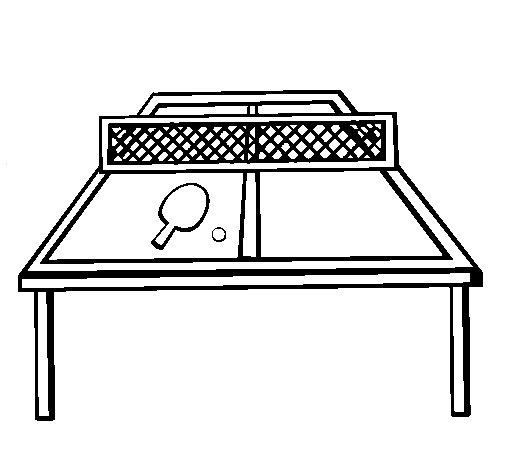 Desenho de Tênis de mesa para Colorir