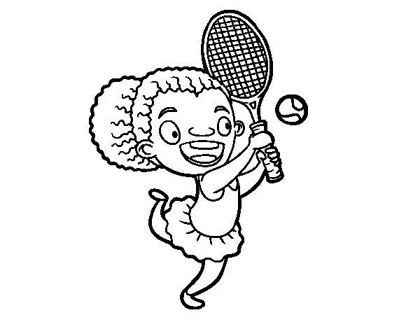Desenho de Tenista para Colorir