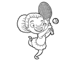 Desenho de Tenista para colorear