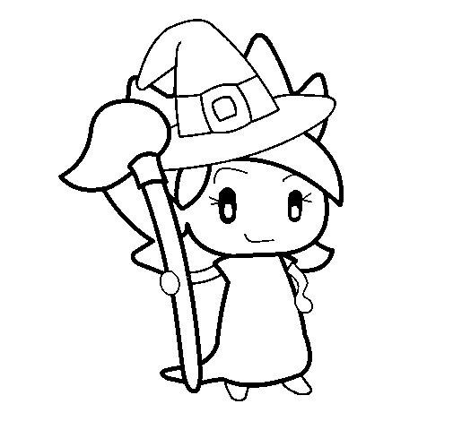 Desenho de Terebintina bruxa para Colorir
