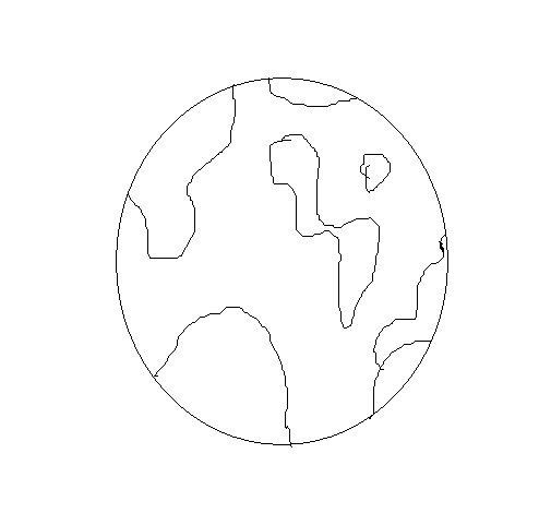 Desenho de Terra para Colorir