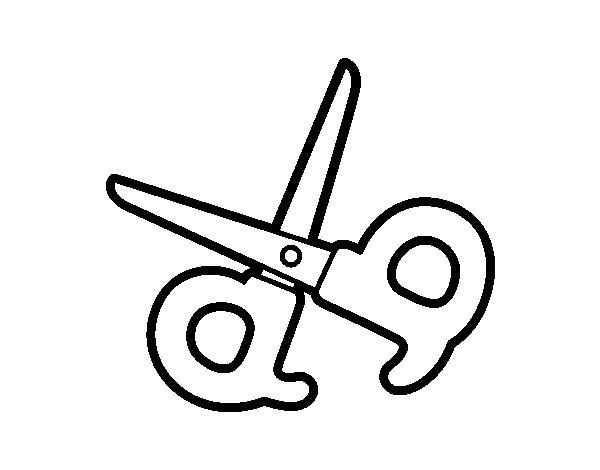 Desenho de Tesoura escolar para Colorir