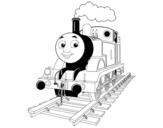 Dibujo de Thomas a locomotiva