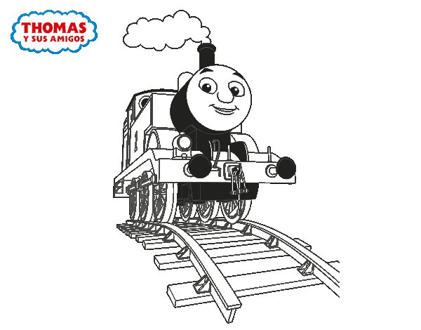 Desenho de Thomas em marcha para Colorir