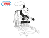 Dibujo de Thomas em marcha