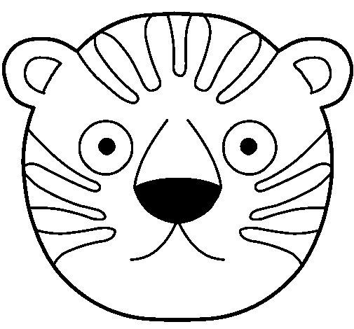 Desenho de Tigre II para Colorir