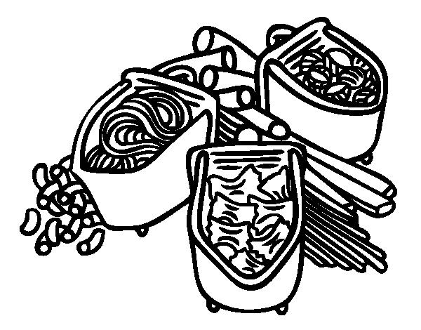 Desenho de Tipos de massa para Colorir