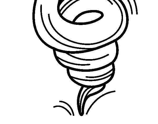 Desenho de Tornado para Colorir