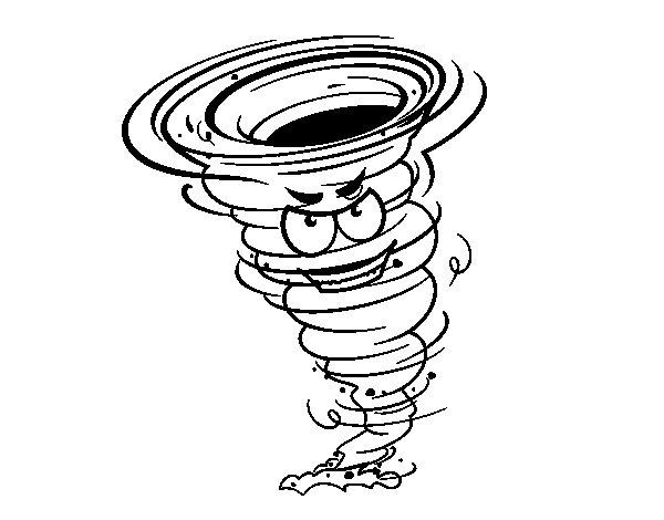 Desenho de Tornado Força 3 para Colorir