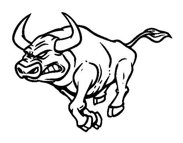Desenho de touro furioso para colorir - Dessin a decalquer ...