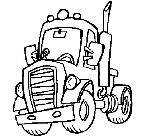 Desenho de Tractor para Colorir