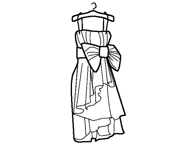 Desenho de Traje de noite para Colorir