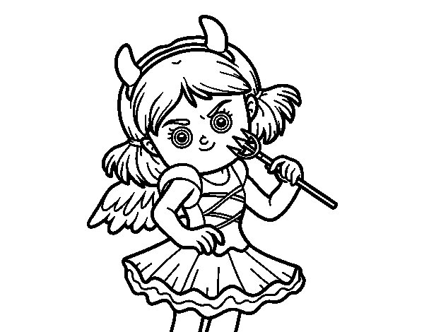 Desenho de Traje do diabo para Colorir