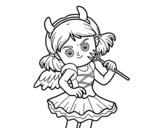 Desenho de Traje do diabo para colorear