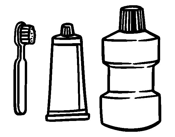 Desenho de Tratamento bucal para Colorir