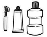 Desenho de Tratamento bucal para colorear