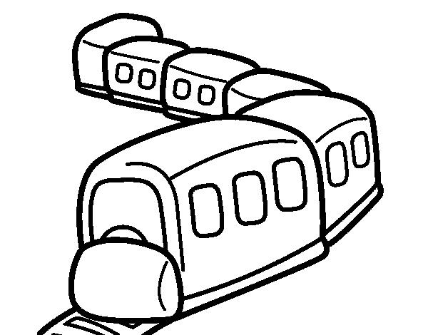 Desenho de Trem a caminho para Colorir
