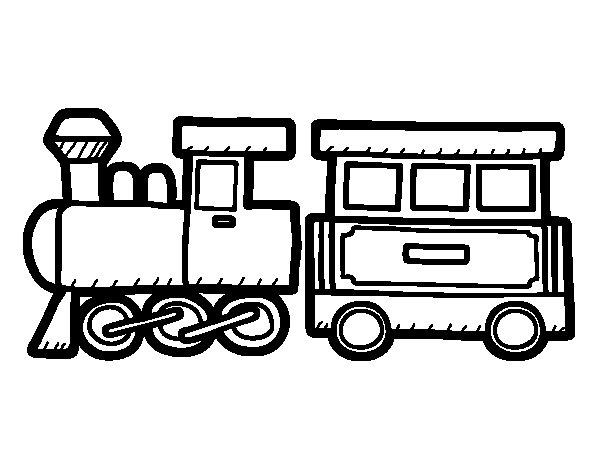Desenho de Trem alegre para Colorir