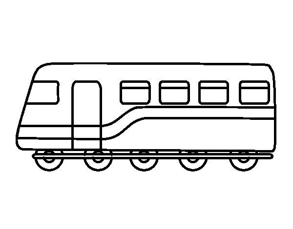 Desenho de Trem de passageiros para Colorir