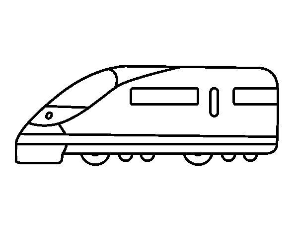 Desenho de Trem rápido para Colorir