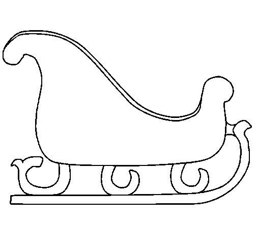 Desenho de Trenó para Colorir