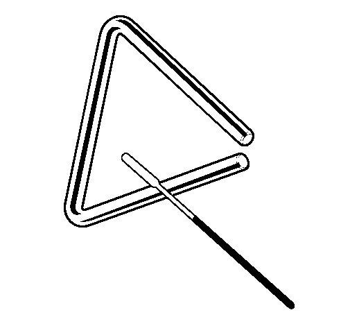 Desenho de Triângulo para Colorir