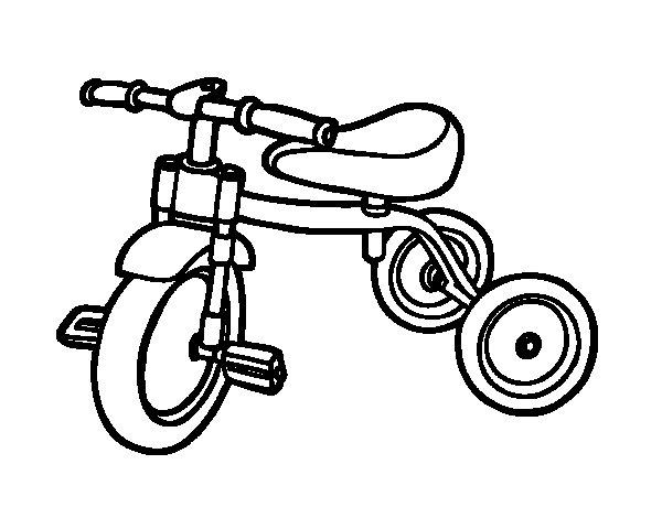 Desenho de Triciclo para a crianças para Colorir