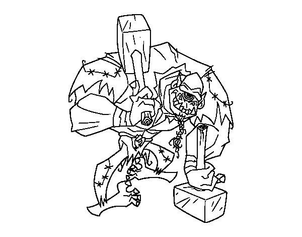 Desenho de Troll cíclope para Colorir