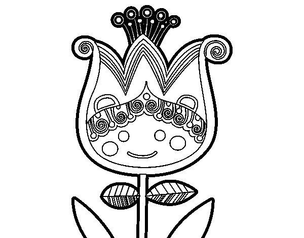 Desenho de Túlipa infantil para Colorir