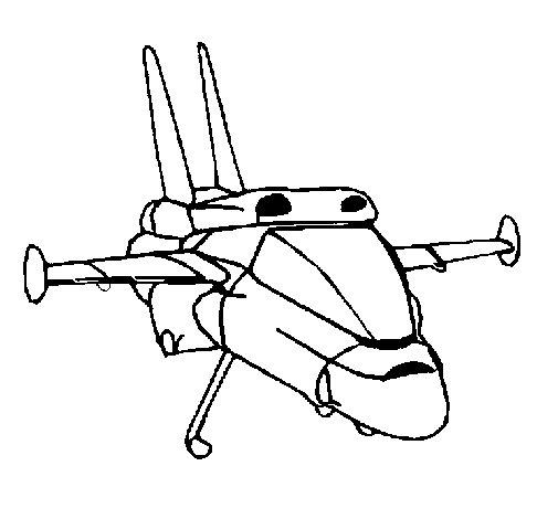 Desenho de Turbo nave para Colorir