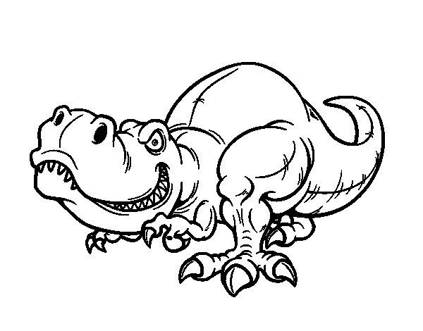 Desenho de Tyrannosaurus Rex para Colorir