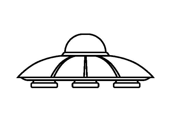 Desenho de UFO aliens para Colorir