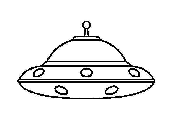 Desenho de UFO extraterrestre para Colorir