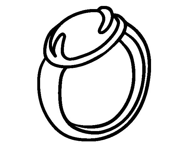 Desenho De Um Anel Com Pedras Preciosas Para Colorir