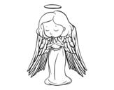 Dibujo de Um anjo a orar