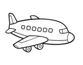 Desenho de Um avião de passageiros para colorear