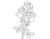 Dibujo de Um buquê de rosas