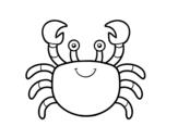 Desenho de Um caranguejo de mar para colorear